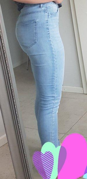 H&M Divided Hoge taille jeans blauw-azuur Katoen