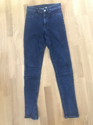 H&M Divided High Waist Jeans blue