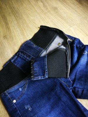 Jeans taille haute bleu