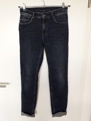 Mustang Jeans a vita alta blu scuro-blu Cotone