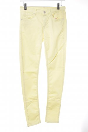 High Waist Jeans blassgelb Casual-Look