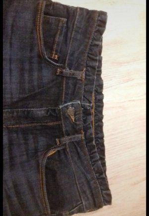 Zara High Waist Trousers dark blue