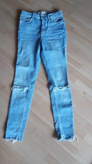 High Waist Jeans Destroyed Studio Skinny Stretch Röhre