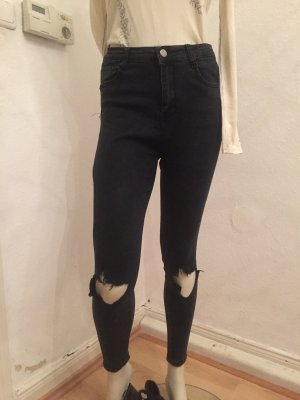 High Waist Jeans dunkel grau Gr.40 (34)
