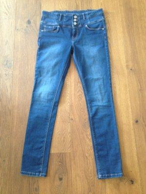 High-Waist Jeans dunkelblau
