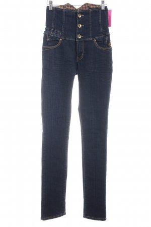 High Waist Jeans dunkelblau Casual-Look