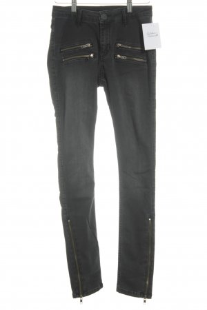 Hoge taille jeans donkergrijs casual uitstraling