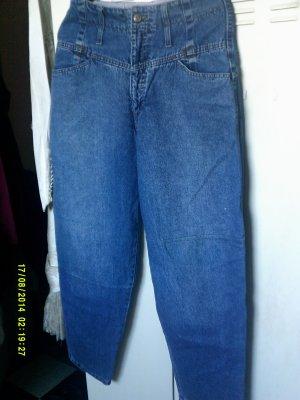 Vintage Jeans a vita alta blu fiordaliso Cotone