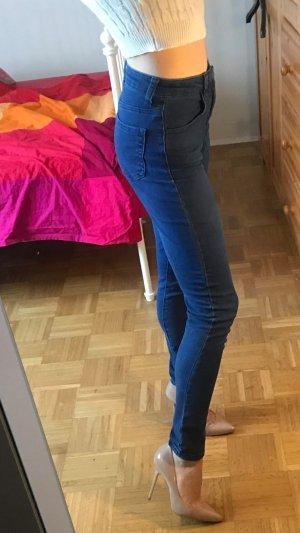 High Waist Jeans Forever 21 Gr. 24 (XS) blau denim Hose hoher Bund skinny slim