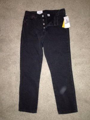 H&M Jeans taille haute gris foncé