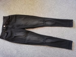 H&M Hoge taille jeans donkergrijs