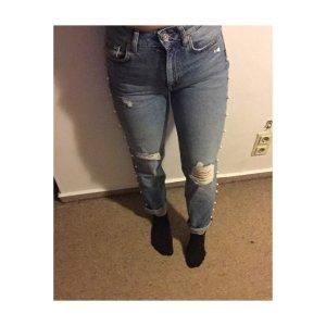 H&M High Waist Jeans blue