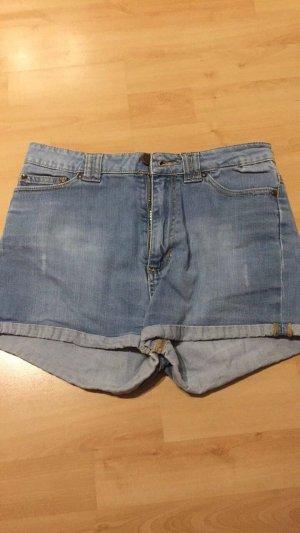 Zara Hot pants azzurro-blu fiordaliso