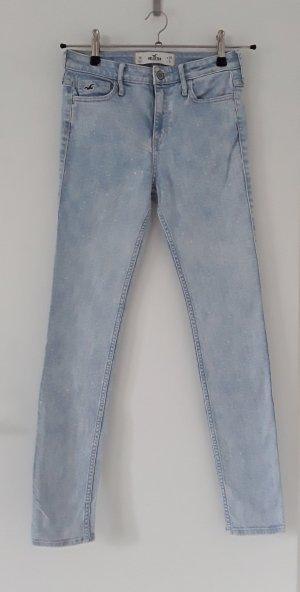 Hollister Hoge taille jeans babyblauw