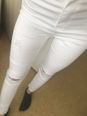 High Waist Jeans in Weiß