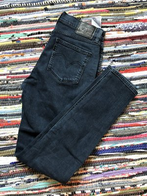Levi's Hoge taille jeans donkerblauw