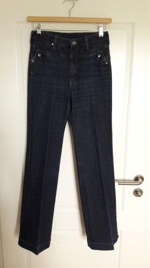 High-waist Jeans mit ausgestelltem Bein, Gr. 36 von Mango