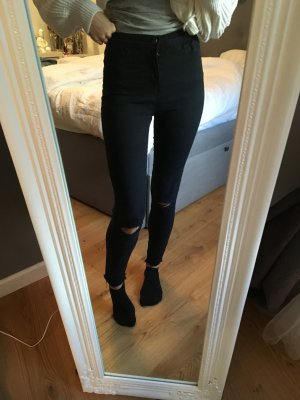 High Waist Jeans mit Cut-Outs