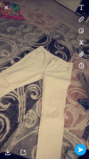 high waist jeans mit risse im knie noch garnichr getragen