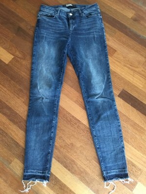 Karl Lagerfeld Hoge taille jeans staalblauw-donkerblauw Katoen
