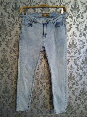 High Waist Trousers light blue