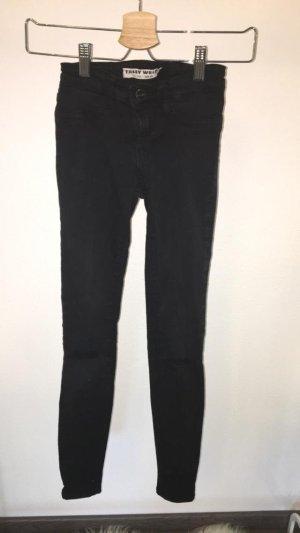 High Waist Jeans schwarz