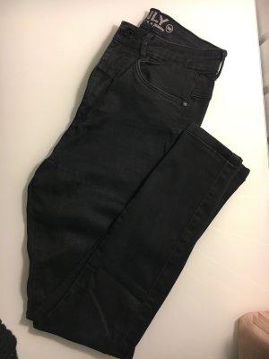 High Waist Jeans Schwarz Only Knöchellang