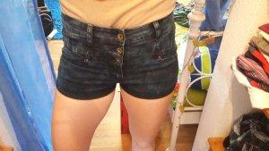 high waist jeans short