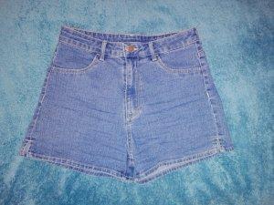 H&M High-Waist-Shorts steel blue