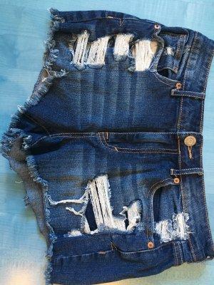 Aeropostale Hot pants donkerblauw-wit