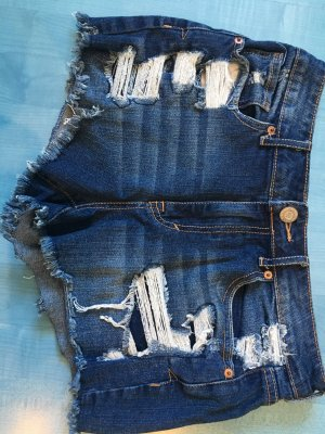 Aeropostale Hot pants donkerblauw-wit