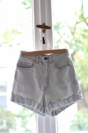 High Waist Jeans Shorts bleached 24