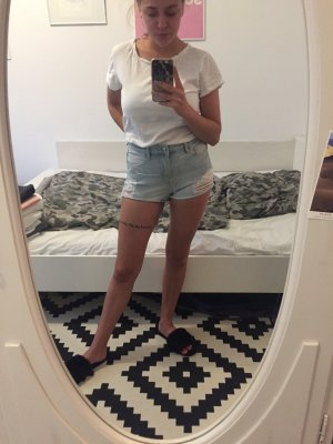 High Waist Jeans Shorts destroyed