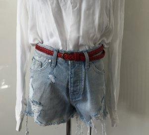 High-Waist Jeans Shorts