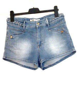 High Waist Jeans Shorts im 70'er Style von Zara, Gr. 42
