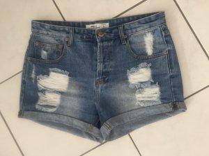 FB Sister Short taille haute bleu clair-bleu coton