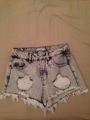 High Waist Jeans Shorts Vintage von Pull & Bear in Größe 32