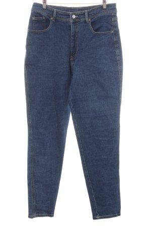 Jeans taille haute bleu acier style des années 90