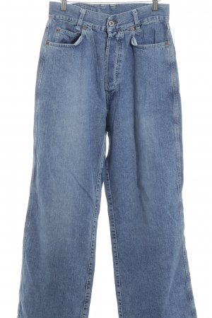 High Waist Jeans stahlblau-himmelblau Street-Fashion-Look