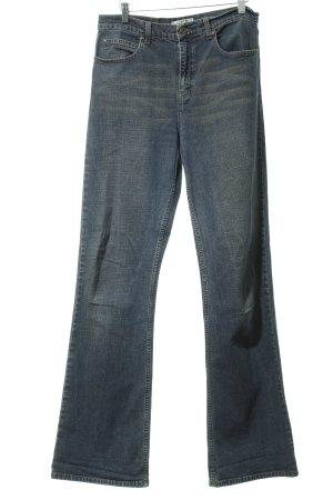 High Waist Jeans stahlblau klassischer Stil