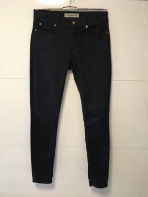 Drykorn High Waist Jeans dark blue cotton