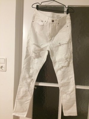 H&M High Waist Jeans white-natural white