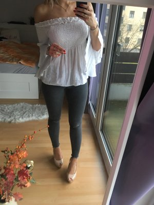 High Waist Jeans Zara grau 36