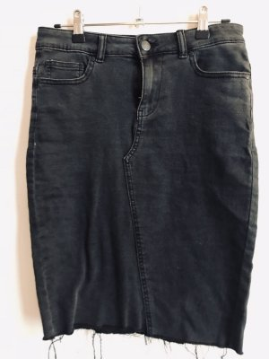 high waist Jeansrock schwarz washed 36/S