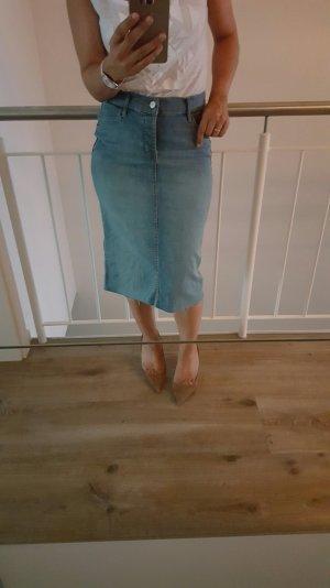 High-waist-Jeansrock von Zara