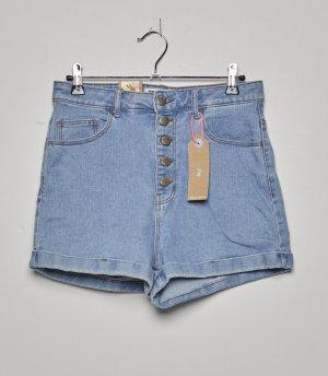 Tally Weijl Short taille haute bleuet coton
