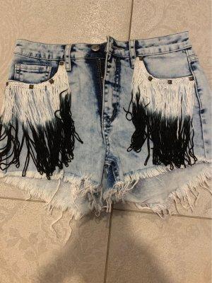 High Waist Jeansshorts