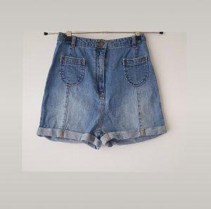 High Waist Jeansshorts Gr. 34 / XS mit Waschung