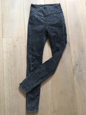 Hoge taille jeans antraciet
