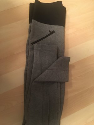 Zara Leggings gris claro-negro